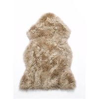 Natures Collection lammeskin - Taupe sheepskin NZ (90x60 cm)