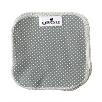 WeeCare - Vaskeklude,10 stk. - Dots - Dusty blue