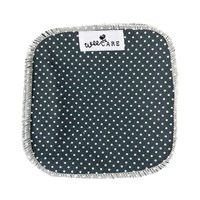 WeeCare - Vaskeklude,10 stk. - Dots - Midnight blue