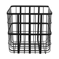 Louise Roe metalkurv - Metal frame basket i sort (large)