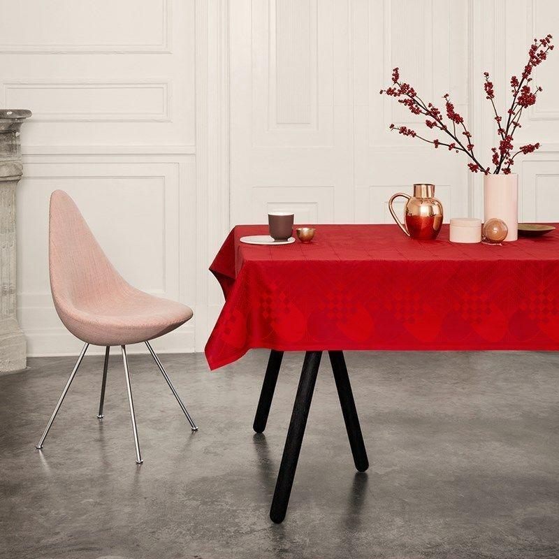 bestil georg jensen damask juledug i r d her fri fragt. Black Bedroom Furniture Sets. Home Design Ideas