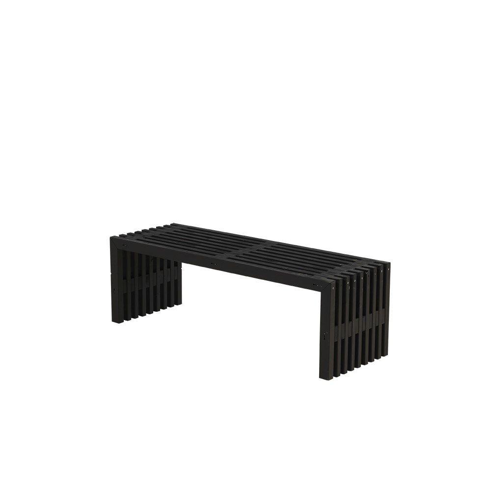 Velsete PLUS - Rustik Trallebænk Design, lille u/hylde - sort - GRATIS FRAGT TV-85