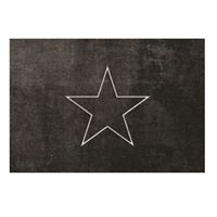 Skriver Collection - Dørmåtte - TrendMat Delux  - Black star (60 x 85 cm)