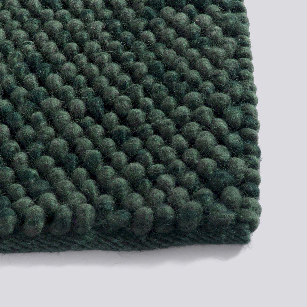 Hay - Peas gulvtæppe (140x200) i mørkegrønt uld - Fri Fragt