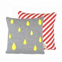 Ferm Living - Pude - raindrops Cushion neon, 30 x 30 cm