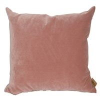 Skriver Collection - Velour pude - Rose - 65x65 cm