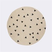 Ferm Living tæppe - Round Carpet - Triangle