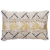 Au Maison pude - African Deluxe cushion i sort/hvid/guld