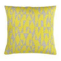 Fuss - Pude, light grey/yellow 42 x 42