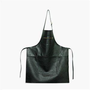 Sort læder forklæde i top kvalitet