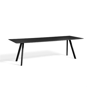 Hay bord - CPH30 Copenhague table 250 x 90 cm - Sort ben/sort top
