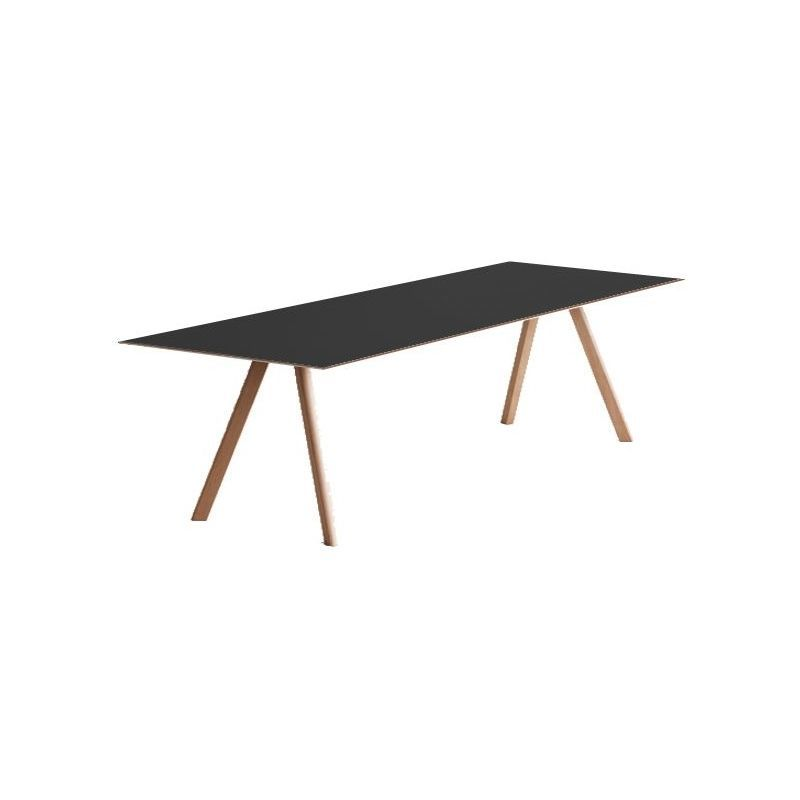 Hay bord cph30 copenhague table 250 x 90 cm, linoleum black