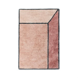 Rug Solid - Tæppe bambussilke, illusion terracotta - 140x200 cm.