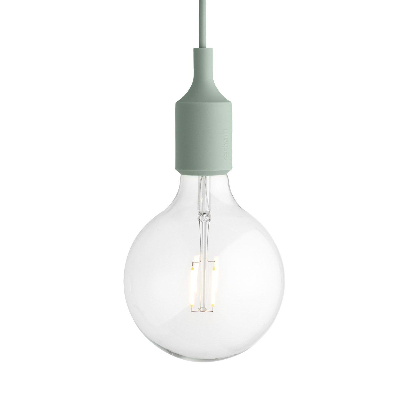 Bare ut Muuto - E27 Pendant lampe (med LED pære) - Lysegrøn - Fri Fragt PM-07