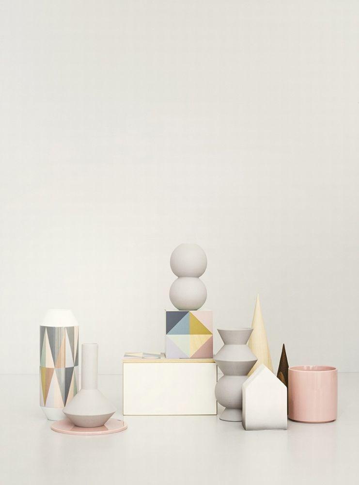 Ferm living geometry vase 1 gratis fragt for Ferm living vase