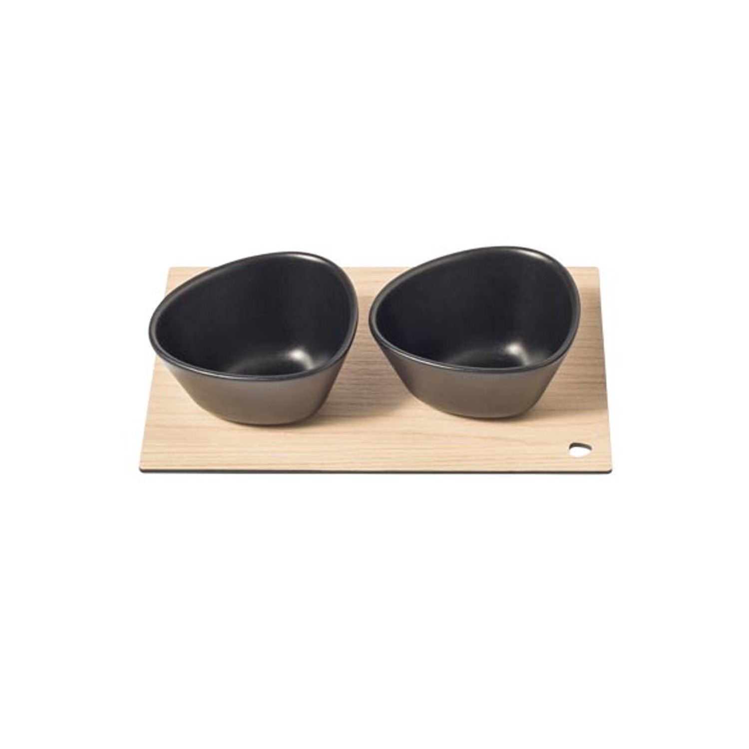LindDNA - Curve Serveringsbræt - Serving Board Set - Sort/Ask