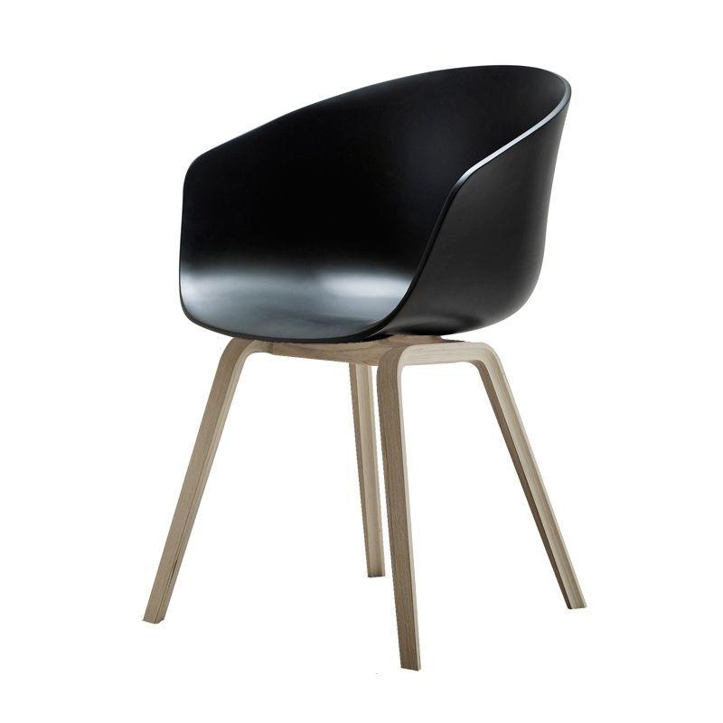hay stol sort Køb Hay About a chair i sort sæde og stel af eg   Fri Fragt hay stol sort