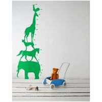 Wall sticker - Animal Tower gr�n