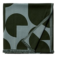 AYTM - Forma Plaid Throw - Forest/Pale mint