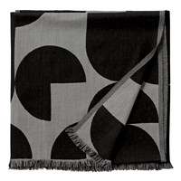 AYTM - Forma Plaid Throw - Light grey/black