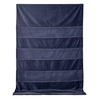 AYTM - Sanati - sengetæppe i velour - Navy