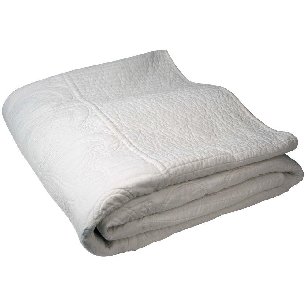 Au maison l kkert quiltet senget ppe yasha i hvid 140 x for Au maison online shop