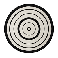 OYOY - Circle Rug Ø120cm -  Black/White