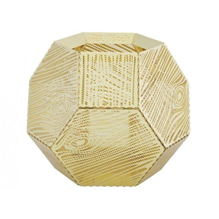 Tom Dixon lysestage - Etch Tea Light Wood (messing)