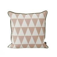 Ferm Living - Pude - Large Geometry (rose/sort)