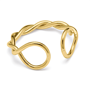 Louise Kragh - Fingerring - Twist - guld