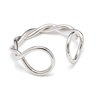 Louise Kragh - Fingerring - Twist - sølv
