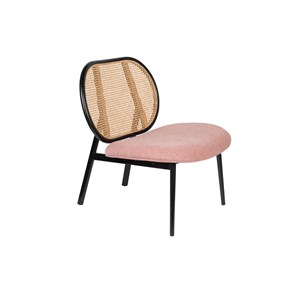 Zuiver - Lounge Chair Spike - Natur/pink