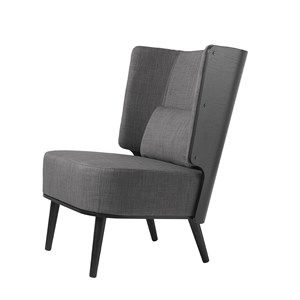 By KlipKlap - KK Lounge Chair - Sort eg/ stone