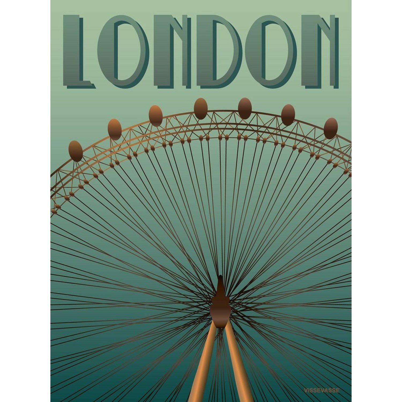 faf6c3c1fd4 VISSEVASSE plakat - London Eye - 15x21 - Fri Fragt