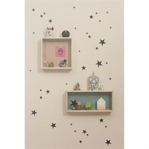 Ferm Living - wallsticker, mini stjerner - sort