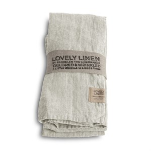 Lovely Linen - Stofserviet, Light Grey
