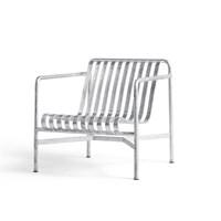 HAY havemøbel - Palissade Lounge Chair Low - Galvaniseret stål