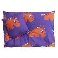 Roommate ZOO Bed set - MoodyMule Lilla/orange - junior