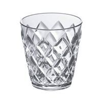 Crystal glas i plastik - Transparent (200 ml.)