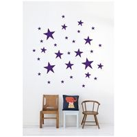 Wall sticker - Stars (violet)