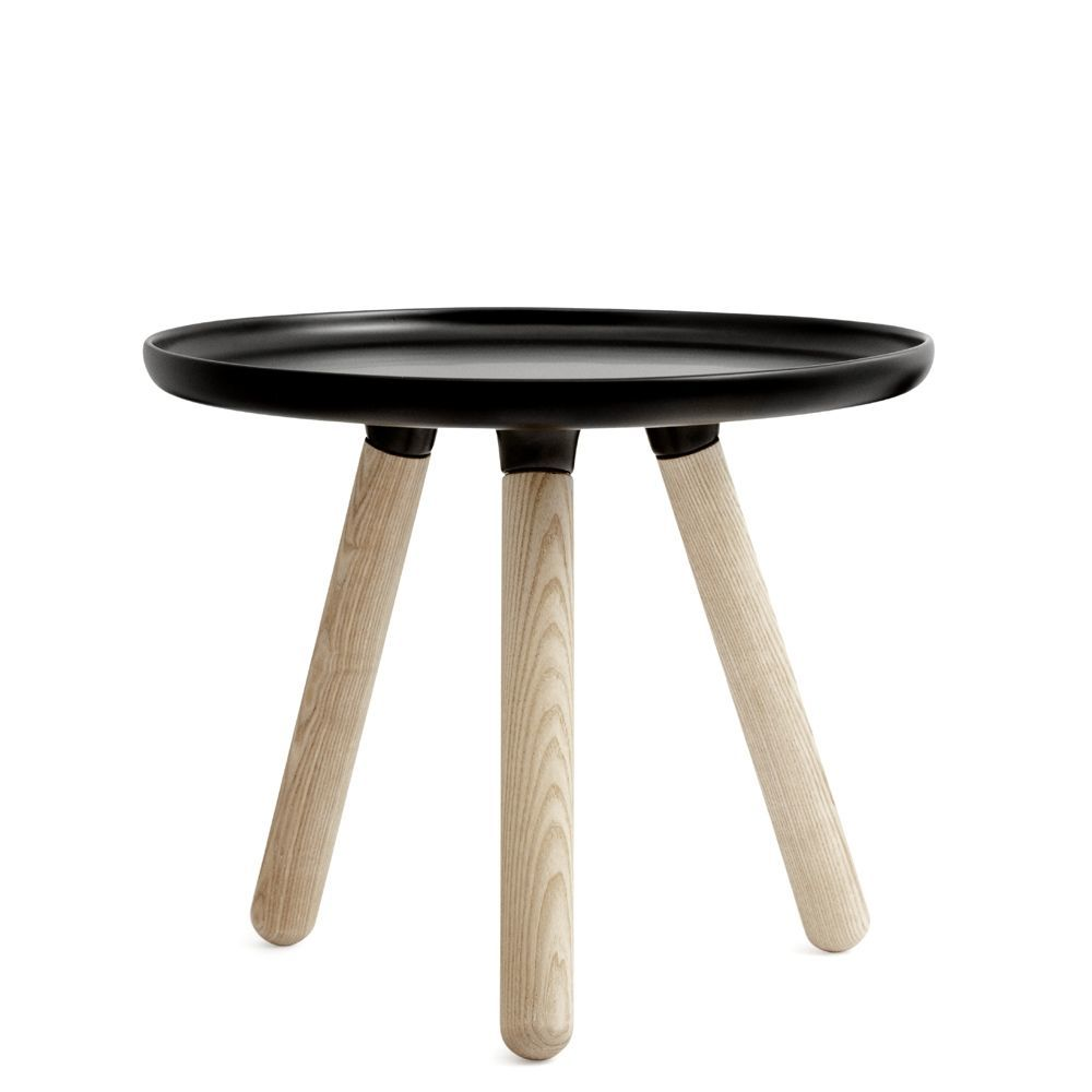Normann Copenhagen Tablo bord i sort (Ø 50 cm)