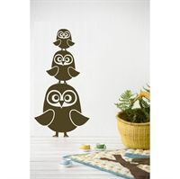Wall sticker - Tre Ugler brun