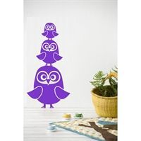 Wall sticker - Tre Ugler lilla