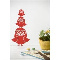 Wall sticker - Tre Ugler r�d