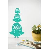 Wall sticker - Tre Ugler turkise
