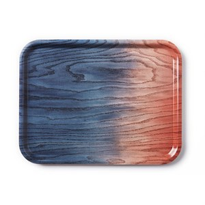 Applicata - Tribute to Wood Tray, large blue