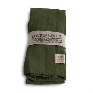 Lovely Linen - Stofserviet, Jeep Green